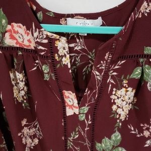 Fever Tops - Floral maroon fever blouse